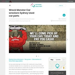 Wreck Monster Car wreckers Sydney Used car parts