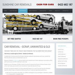 Car Wreckers & Buyers Sunshine North, St Albans & Burnside