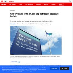 City wrestles with 3% tax cap as budget pressure builds