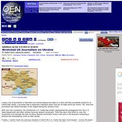 Wretched US Journalism on Ukraine