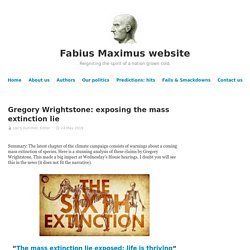 Gregory Wrightstone: exposing the mass extinction lie