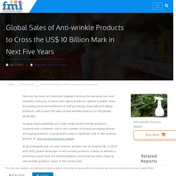 Global Sales of Anti-Wrinkle Productsto Follow a Downward Trend Post 2020, with Continued Impact of COVID-19 Outbreak, Concludes a New FMI Study