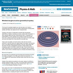 Wrinkled doughnut solves geometrical mystery - physics-math - 30 April 2012