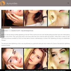 Why Frown at Fine Lines and Wrinkles? Get an Immediate Cure