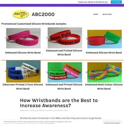 How Wristbands are the Best to Increase Awareness? – ABC2000