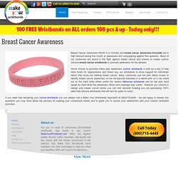 Breast Cancer Awareness Wristbands and Bracelets