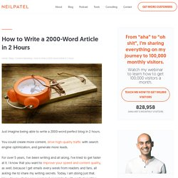 How to Write a 2000-Word Article in 2 Hours