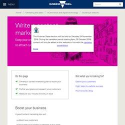 Write a content marketing plan