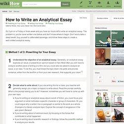 i have never written an essay
