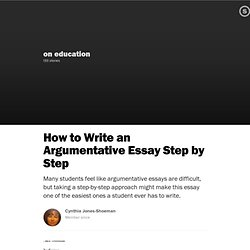 step by step guide to writing an argumentative essay