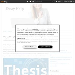 Tips for Writing a Good Thesis