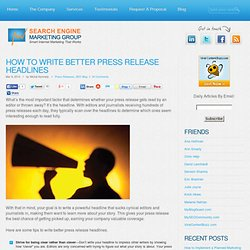 How to Write Better Press Release Headlines