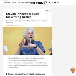 Write better. 13 rules from Steven Pinker.
