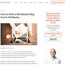 Wie man in nur 45 Minuten einen hitverdächtigen Blog-Beitrag verfasst