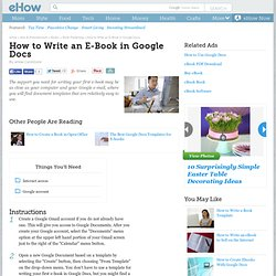 How to Write an Ebook in Google Docs