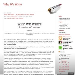 Why We Write