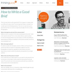 How to Write a Good Brief | Thinking Juice
