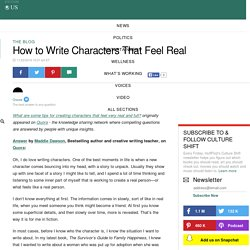 How to Write Characters That Feel Real