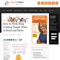 How to Write Blog Content People Want to Read and Share