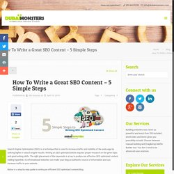 How To Write a Great SEO Content – 5 Simple Steps