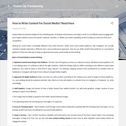 How to Write Content For Social Media? Read Here