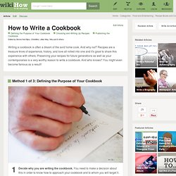 How to Write a Cookbook: 7 steps (with pictures)