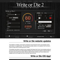 Write or Die by Dr Wicked