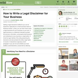 How to Write a Legal Disclaimer for Your Business: 12 Steps