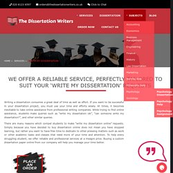 Write My Dissertation UK, Buy Dissertation Online