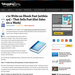 How to Write an Ebook Fast (within 3 Days) – That Sells Fast (Get Sales within a Week)