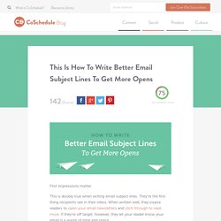 How To Write Email Subject Lines That Get More Opens