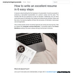 How to write an excellent resume in 6 easy steps