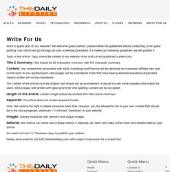 Write For Us - Lifestyle Blog