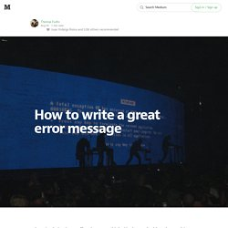 How to write a great error message