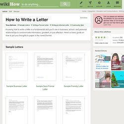How to Write a Letter (with Free Sample Letters)