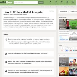 How to Write a Market Analysis: 12 Steps