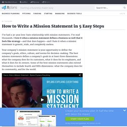 How to Write a Mission Statement in 5 Easy Steps
