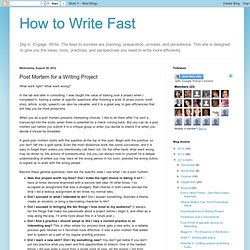 Post Mortem for a Writing Project