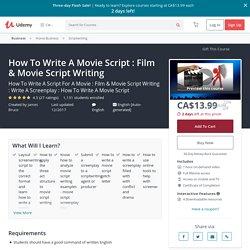 How To Write A Movie Script : Film & Movie Script Writing