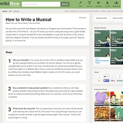 How to Write a Musical: 8 Steps