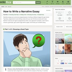 How to Write a Narrative Essay: 14 Steps