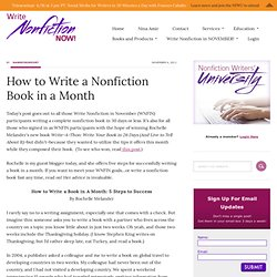 How to Write a Nonfiction Book in a Month
