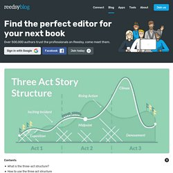 How to Write a Novel Using The Three-Act Structure