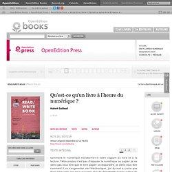 Read/Write Book - Qu'est-ce qu'un livre à l'heure du numérique?