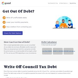 Write Off Council Tax Debt - Get Out Of Debt