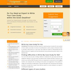 Who Can Write my case study for Me Online- MyAssignmenthelp.com