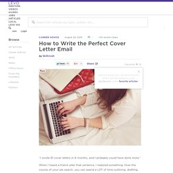How to Write the Perfect Cover Letter Email