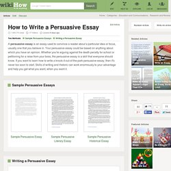 How to Write a Persuasive Essay (with Free Sample Essay)