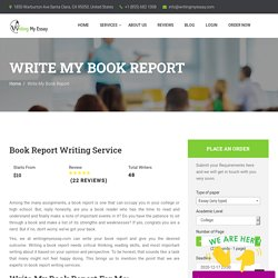 Write My Book Report for Me With Expert Writers