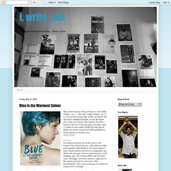 i, write, riot: Blue Is the Warmest Colour